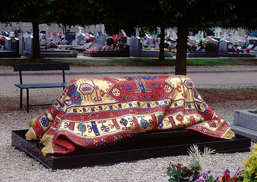Мозаичный ковер на могиле Нуриева